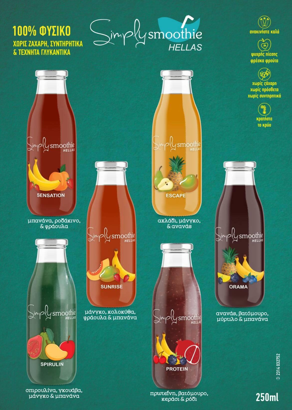 Το διαφημιστικό υλικό της Simply Smoothie Hellas!